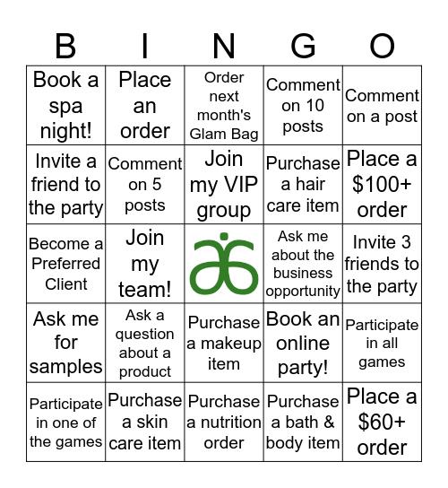 Arbonne Bingo Card