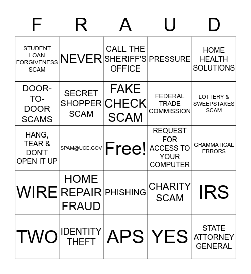 NATIONAL CRIME VICTIMS' RIGHTS WEEK Bingo Card
