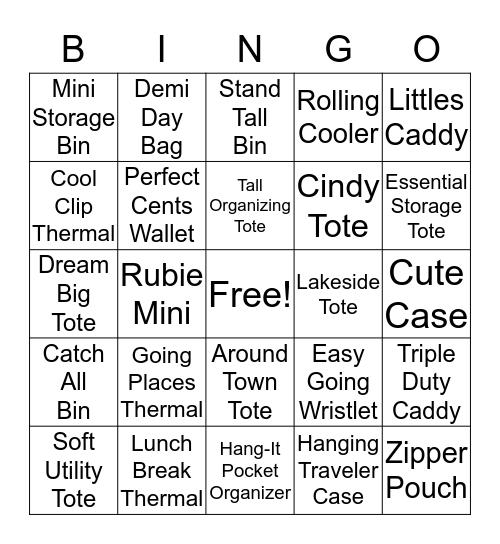 Thirty-One Bingo Card