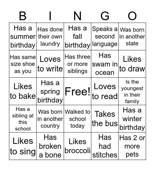 Find a Girl Scout Who... Bingo Card
