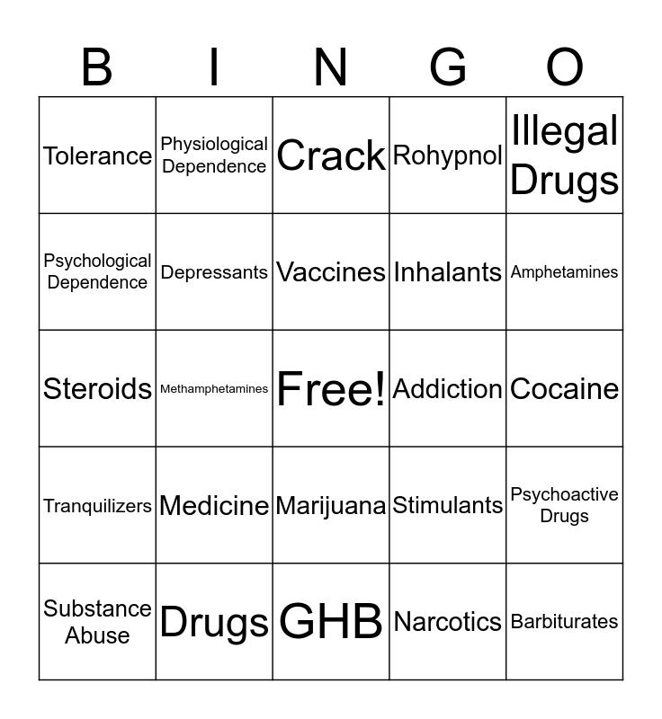 Health Chapter 23 Bingo Card