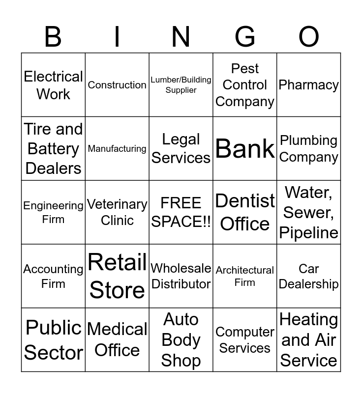Second Quarter New Account Bingo Card