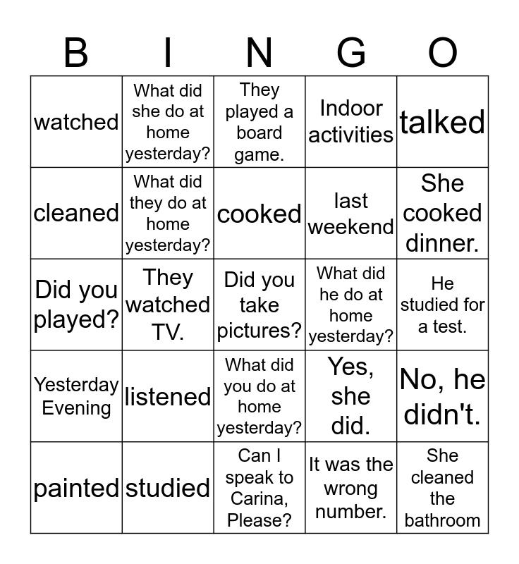 Raun Bingo Card