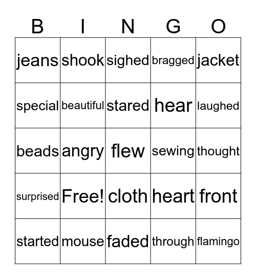Kindergarten Bingo 1 Bingo Card