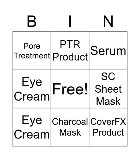 Skincare EGGStravaganza Bingo Card