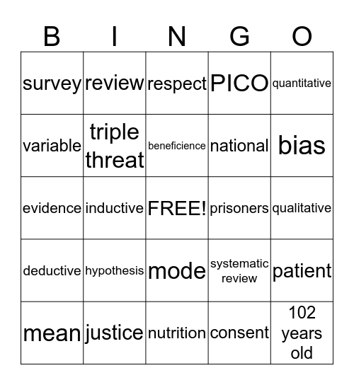 Summer Enrichment Program  Bingo Card