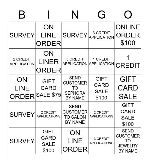 BINGO - IN - A -DAY  Bingo Card