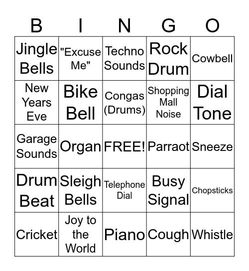 Audio Bingo Card #3 Bingo Card