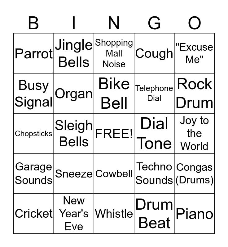 Audio Bingo Card  Bingo Card