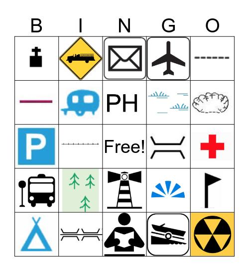 MAP SYMBOLS  Bingo Card