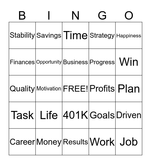 SUCCESSFUL PEOPLE MEET Bingo Card