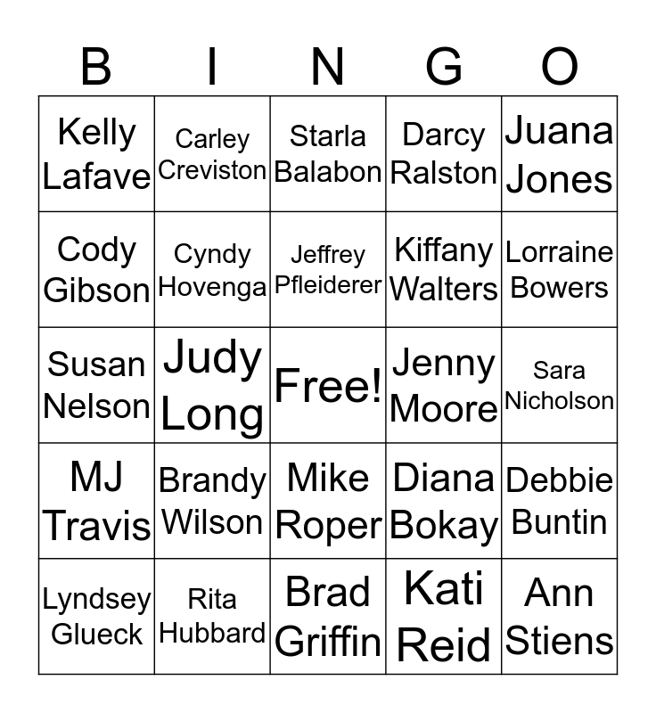Teacher Appreciation Bingo Card