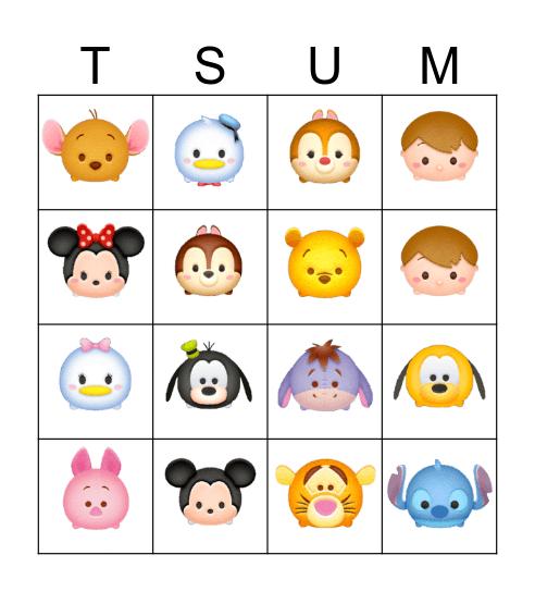 TSUM TSUM Bingo Card