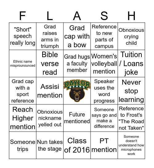SFU Graduation Bingo Card
