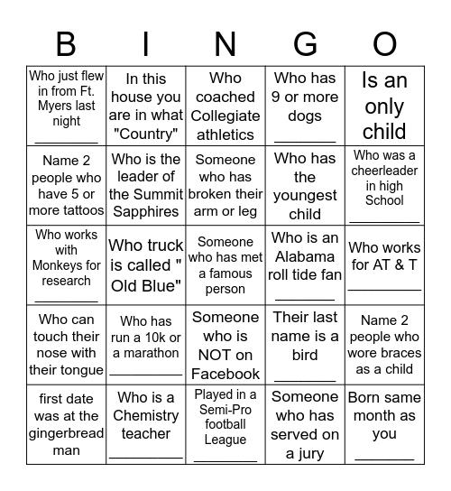 July 4th Bash  Bingo Card