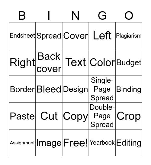 YEARBOOK Bingo Card