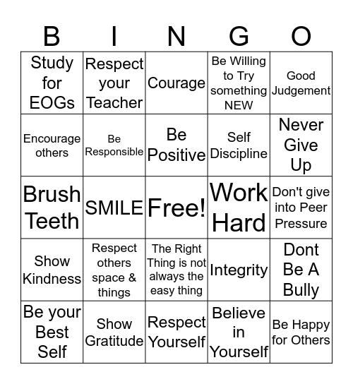 Burke's Bingo  Bingo Card