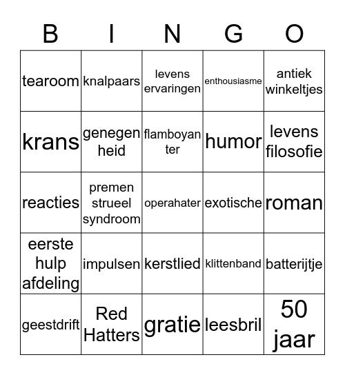 BINGO ALIE Bingo Card