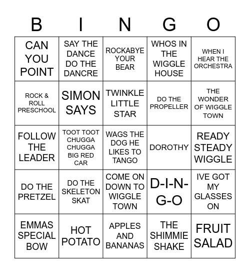 037 BEST OF THE WIGGLES Bingo Card