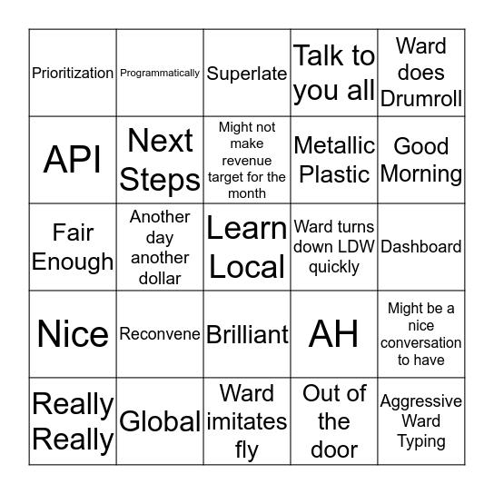 Ward BINGO V2! Bingo Card