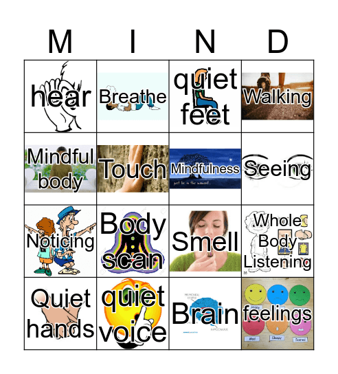 Mindful Bingo Card