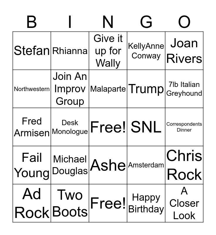 8G Band Incredible Q&A Bingo Card
