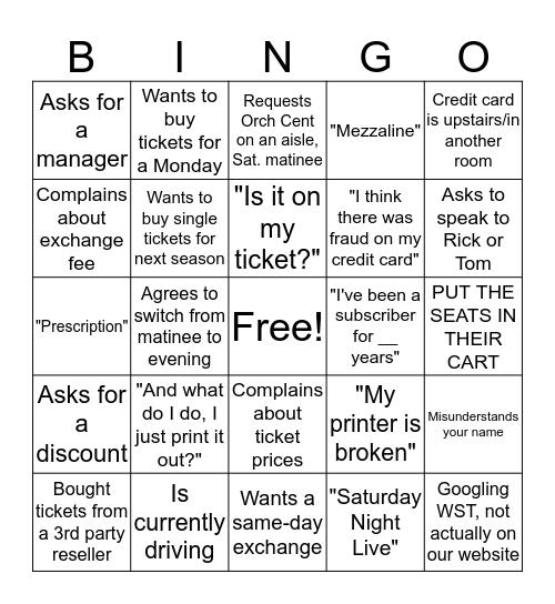 Phone Charge Bingo Card