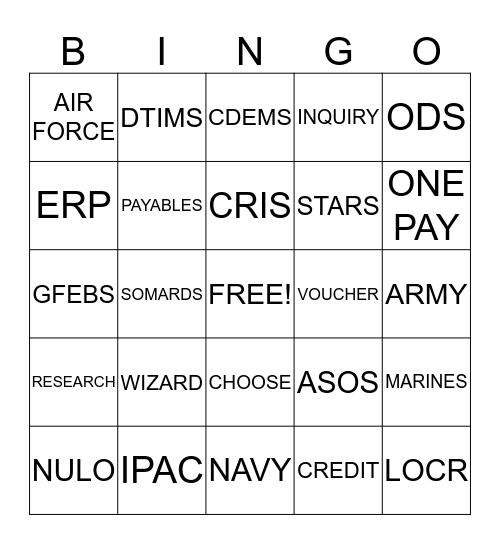 IPAC BINGO Card