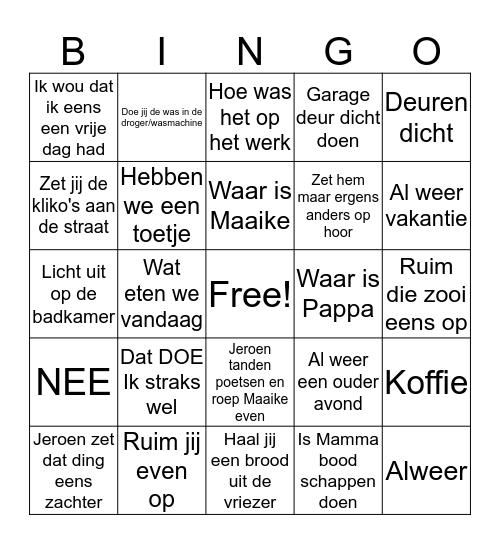 Fam. Lok Bingo Card