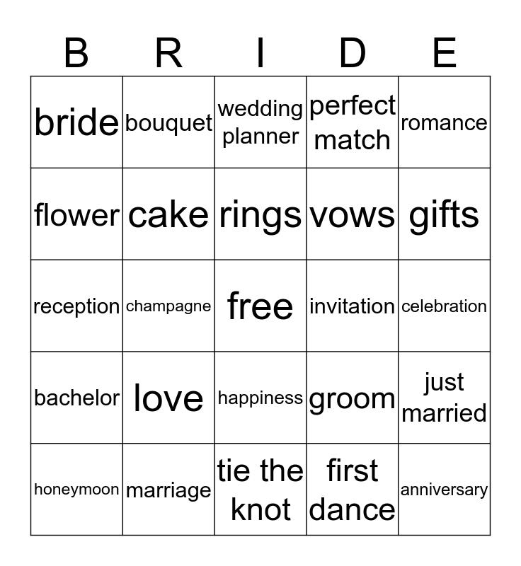 IRENE Bingo Card