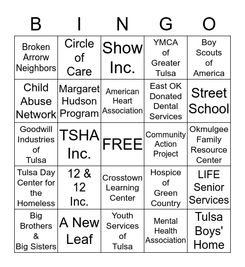 UNITED WAY CAMPAIGN 2013 Bingo Card
