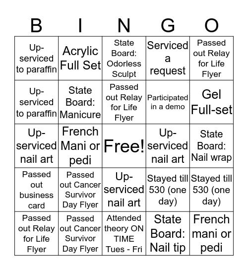 Nailed * It Bingo Card