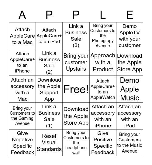Name:                                                                   Bingo Card