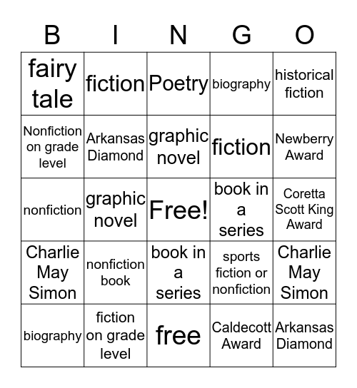Read to Succeed  Bingo Card