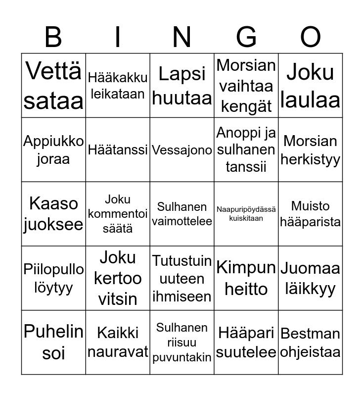 HÄÄBINGO IDA & JOONAS Bingo Card