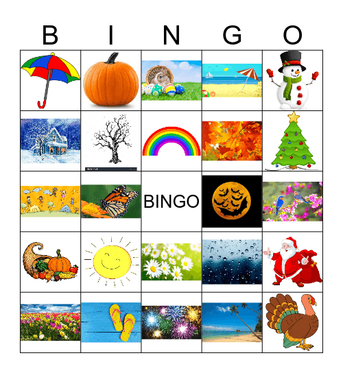Seasons of the Year Bingo Card