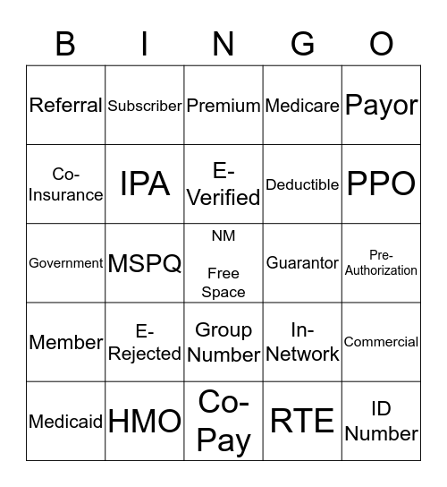 Insurance 100: Overview Bingo Card
