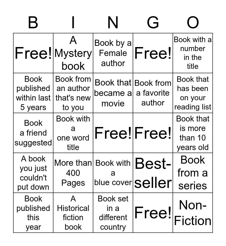 Adult Summer Reading 2017 Bingo Card