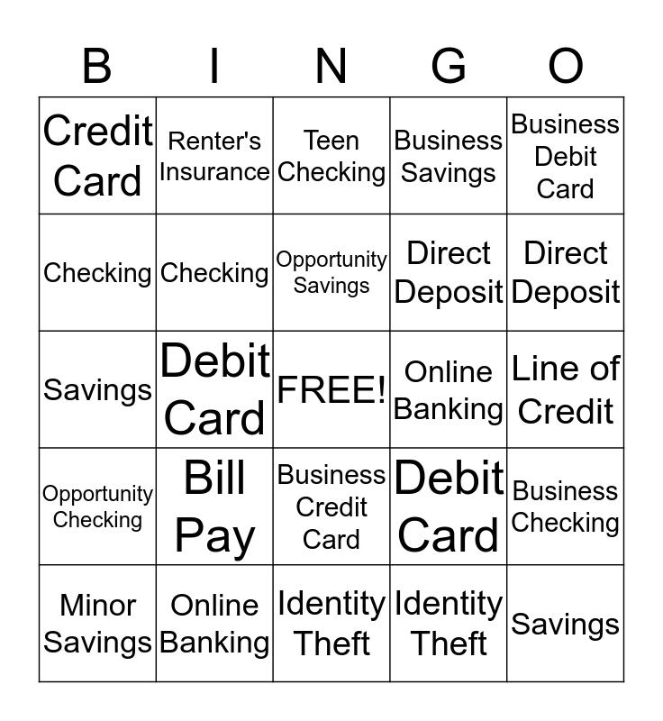 JANAF Bingo Card