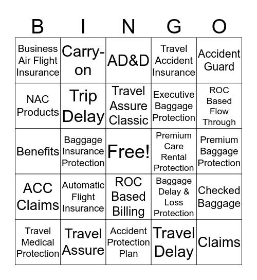 AMEX Assurance Company  Bingo Card