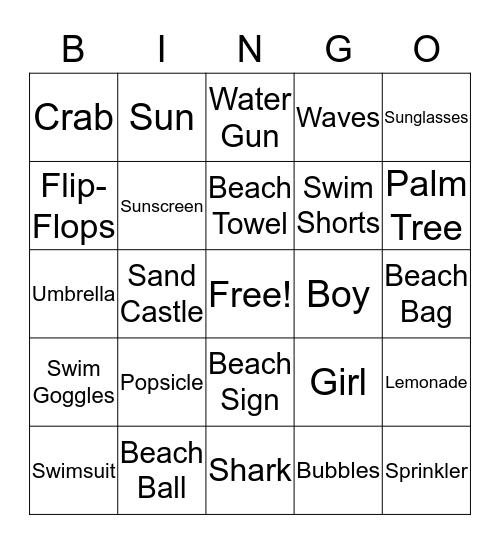 Summer Bingo Card
