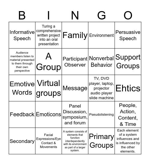 The Breakfast Club Bingo Card