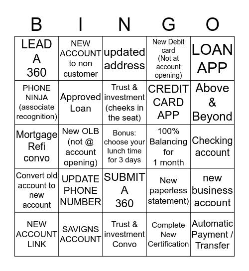 TYLER Bingo Card