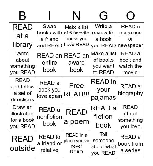 AH SUMMER READING BINGO 2017 Bingo Card