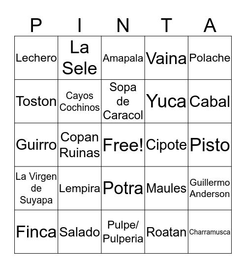 Bingo Catracho Bingo Card