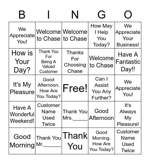 Elevated Language Bingo Card