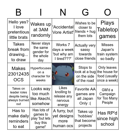 Mothman Clan, Here we Stand Bingo Card