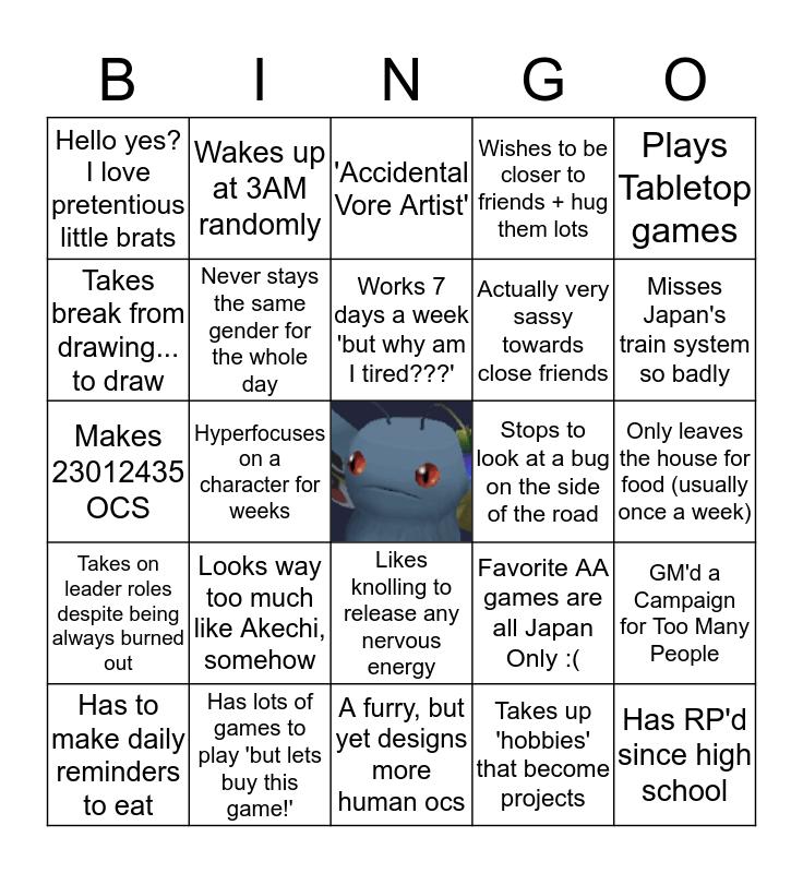 Mothman Clan, Here we Stand Bingo Card