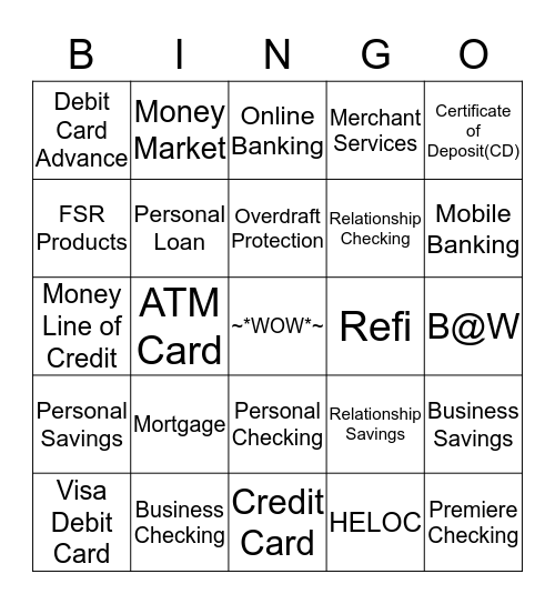 EARN Bingo Card