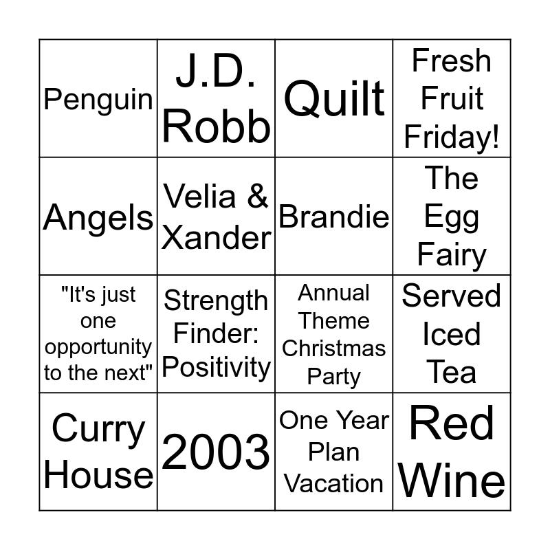 Cynthia's Bingo Card